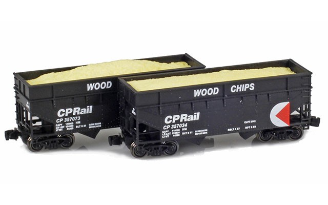 Full Throttle 33' offset-side two-bay woodchip hopper set FT-3405-1