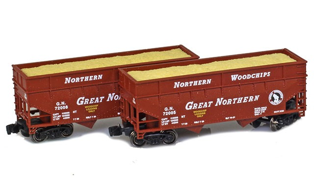 Full Throttle 33' offset-side two-bay woodchip hopper set FT-3408