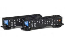 Full Throttle 100-ton Rib-side 3-bay hopper set FT-8020