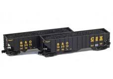Full Throttle 100-ton Rib-side 3-bay hopper set FT-8021