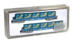 PRMLoco Two container cars with 5x containers each PRM2003