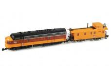 Marklin EMD F7 set with caboose 88603