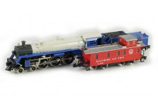 Marklin Pacific steam locomotive set with caboose 8881_HOS