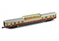 Marklin DB TEE red creme dome car  - lighted 8738