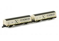 Marklin Schenker boxcar set 82153