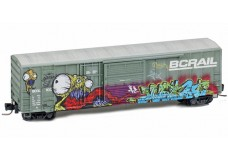 Micro-Trains 50' Rib Side Boxcar with Plug Door and Sliding door 51244030
