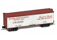 Micro-Trains 40' double sheathed woodside boxcar 51500XXX