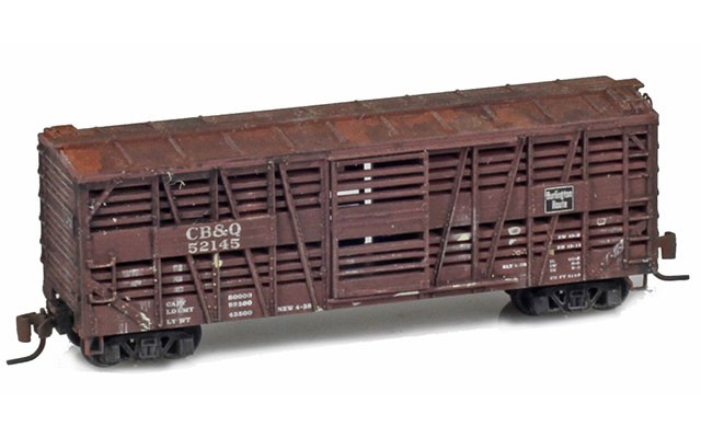 Micro-Trains 40' Despatch stock car weathered 52000090W