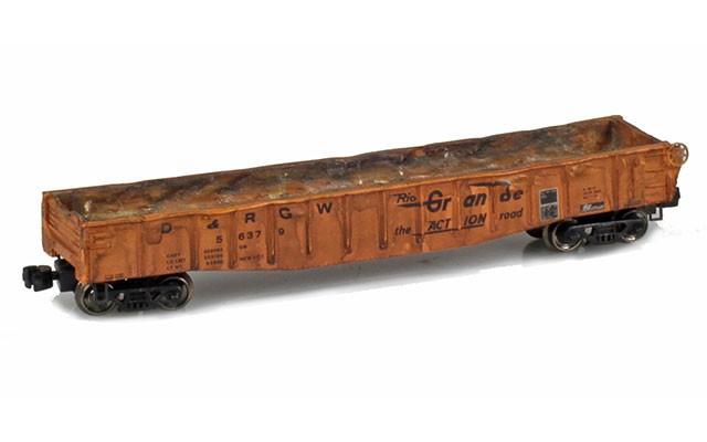 Micro-Trains 50' Gondola fishbelly sides w/drop ends 52200100W