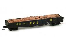 Micro-Trains 50' Gondola fishbelly sides w/drop ends wi/scrap load 52200120B