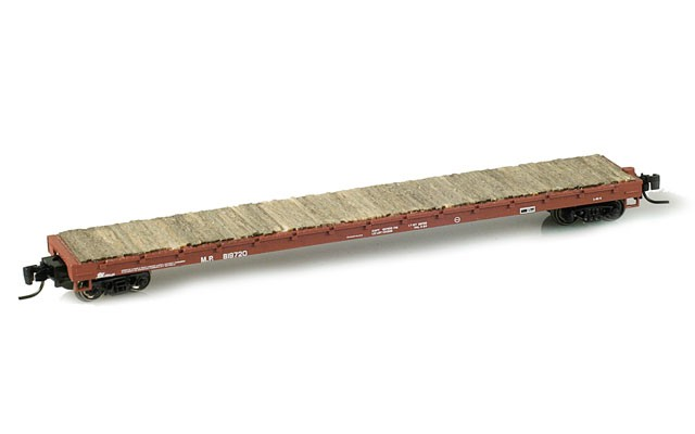 Micro-Trains 60' flat car with upgrades 52400030_wd