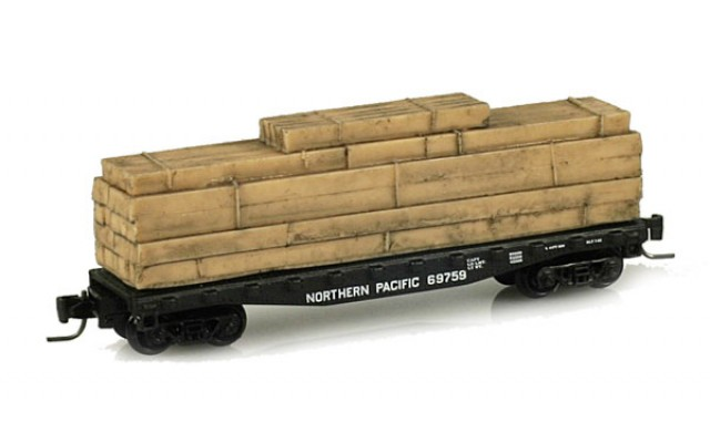 Micro-Trains 40' flat car with log load 52500092