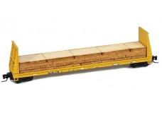 Micro-Trains 60' bulkhead flat car with load 52700081A