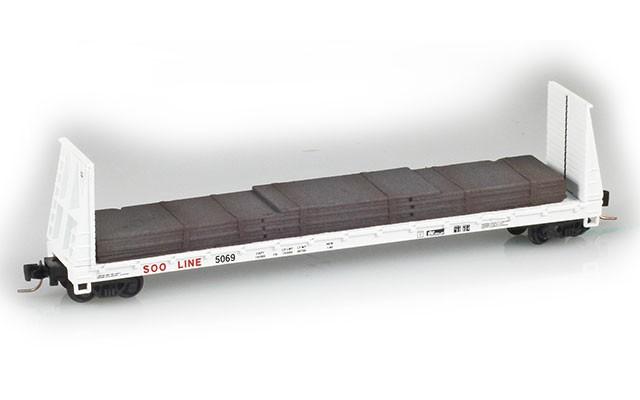 Micro-Trains 60' Bulkhead Flat Car 52700152