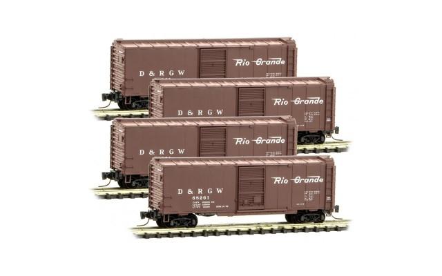 Micro-Trains 40' single door boxcar set 99400109