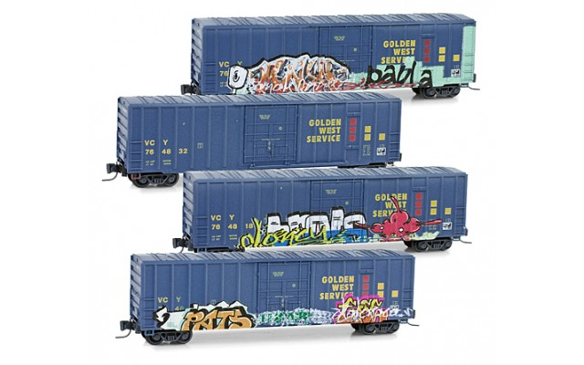 Micro-Trains 50' Boxcar weathered set 99405050