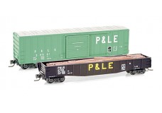 Micro-Trains P&LE two car set MTLZ07-12