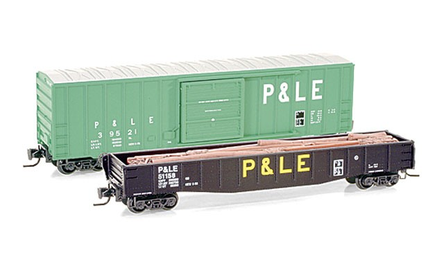 Micro-Trains P&LE two car set MTLZ07-12