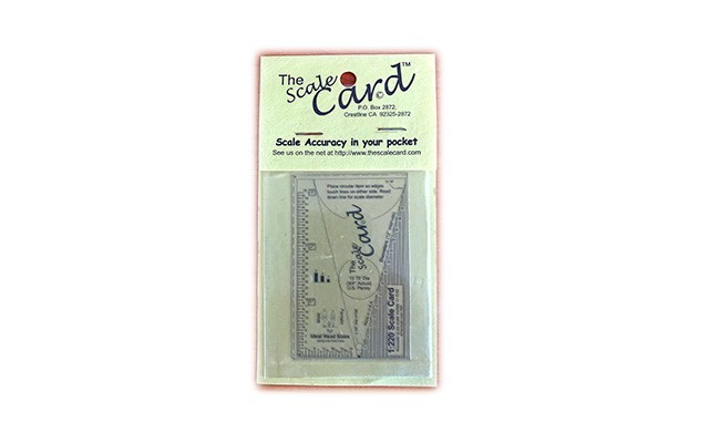Scale Card Scale Card 1:220 ruler ZB13735
