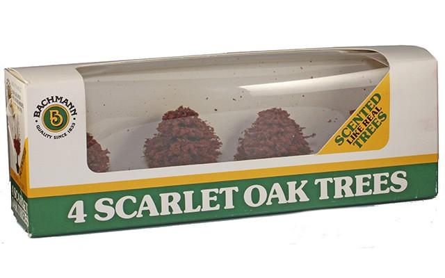 Bachmann 4 Scarlet Oak Trees 49-2383