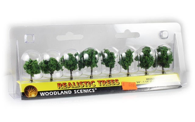 Woodland Scenics Medium Green trees TR1501
