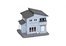 Rokuhan Two Story House B - Blue S043-2