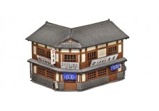 Sankei Japanese 2 story shop - traditional corner building SAN14283