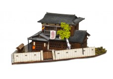 Sankei Japanese traditional home on corner lot with fence SAN14288