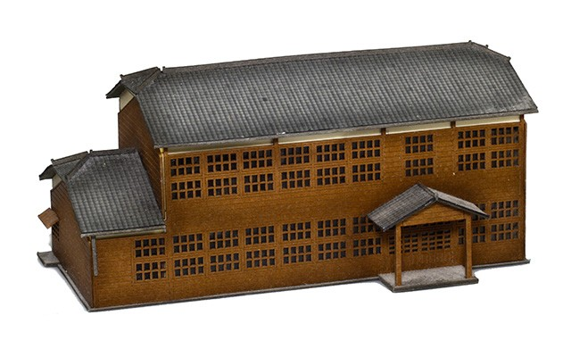 Sankei Japanese large factory building kit MP01-78