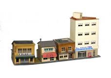 Sankei Japanese four building commercial row SAN14303