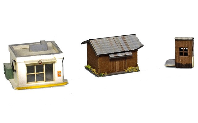 Sankei Japanese assorted small buildings and parts SAN14305