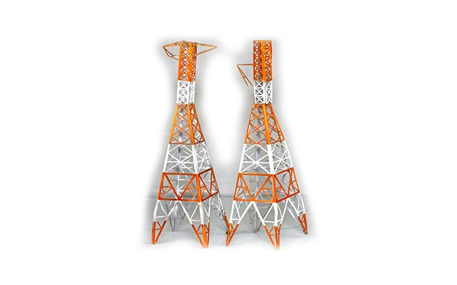 Sankei Japanese tall electrical masts SAN14314