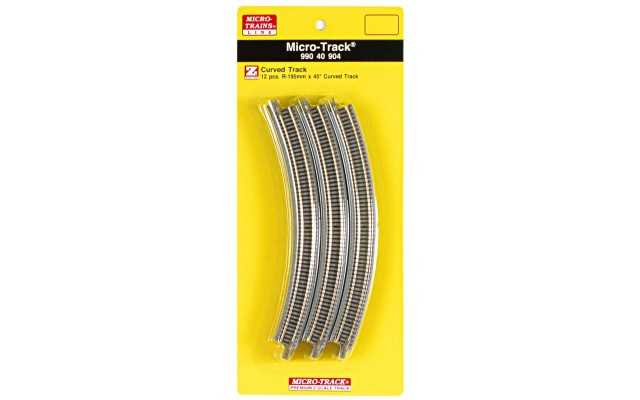 Micro-Trains R195mm x 45° Curved Track 99040904