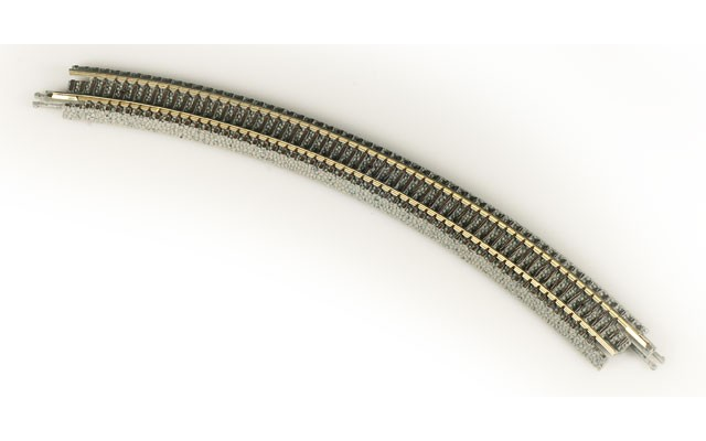 Micro-Trains R195mm x 45° Curved Track 99040904-4