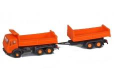 Noch Mercedes dump truck with trailer 4754