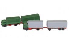 Kibri Pair of trucks with trailers KI1606
