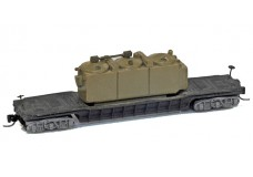 Ztrack Ztrack drop belly flat car with transformer load ZT7882